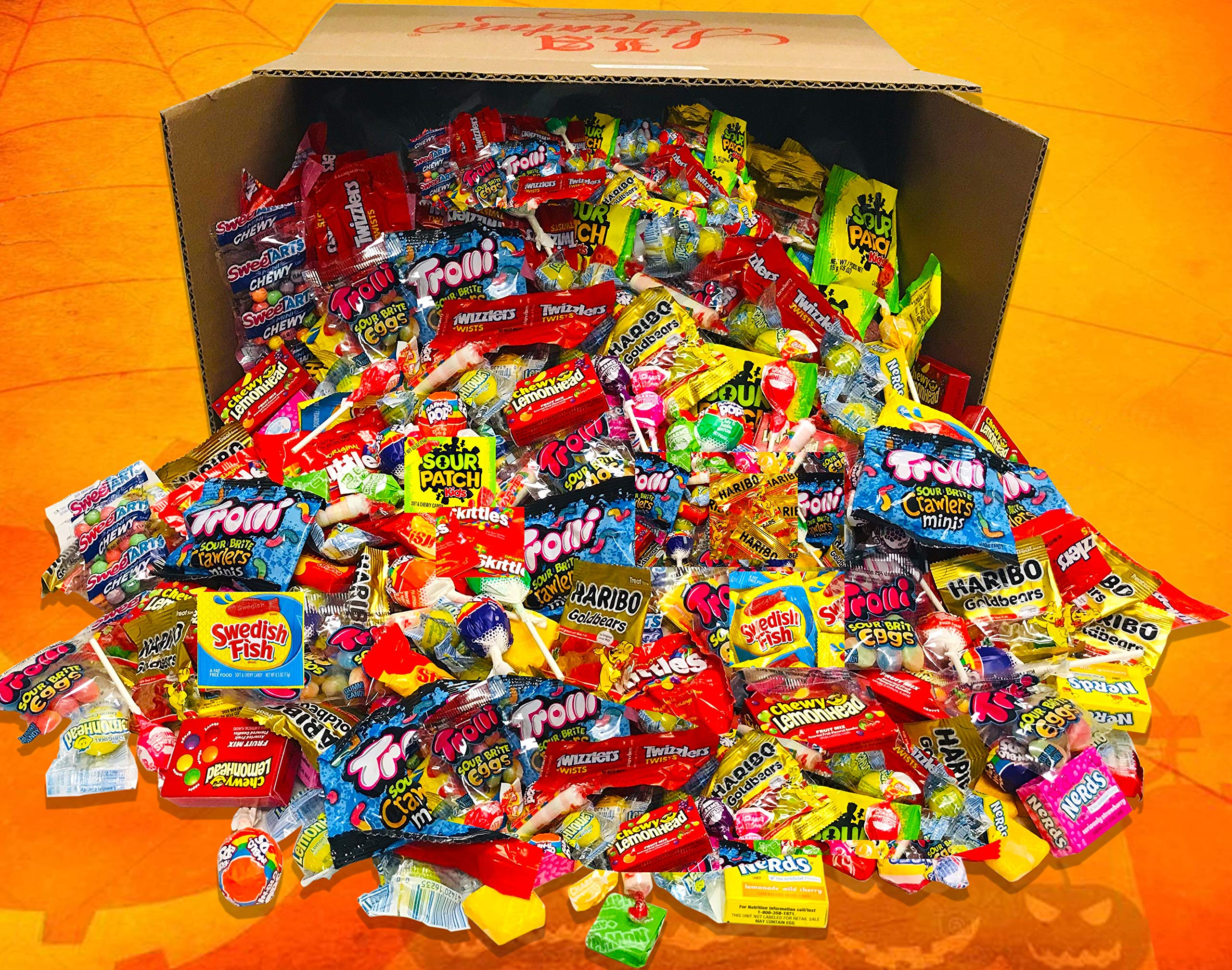 HUGE FUN MIX ASSORTED Variety BULK Individually Wrapped Candies Net Weight 12 LBS ( 192 oz) Skittles, Haribo, Sour Patch Kids, Swedish Fish, Starburst, Lemondheads Chewy, Trolli, Now & Later by LA Signature