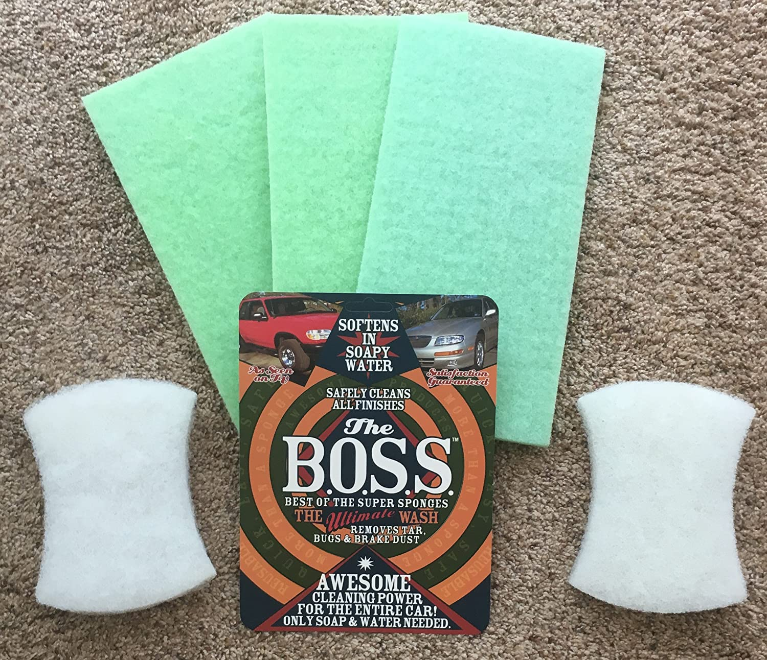 Love Bug Eraser, Deluxe Clean Kit - Replacement Pads BOSS SPONGE