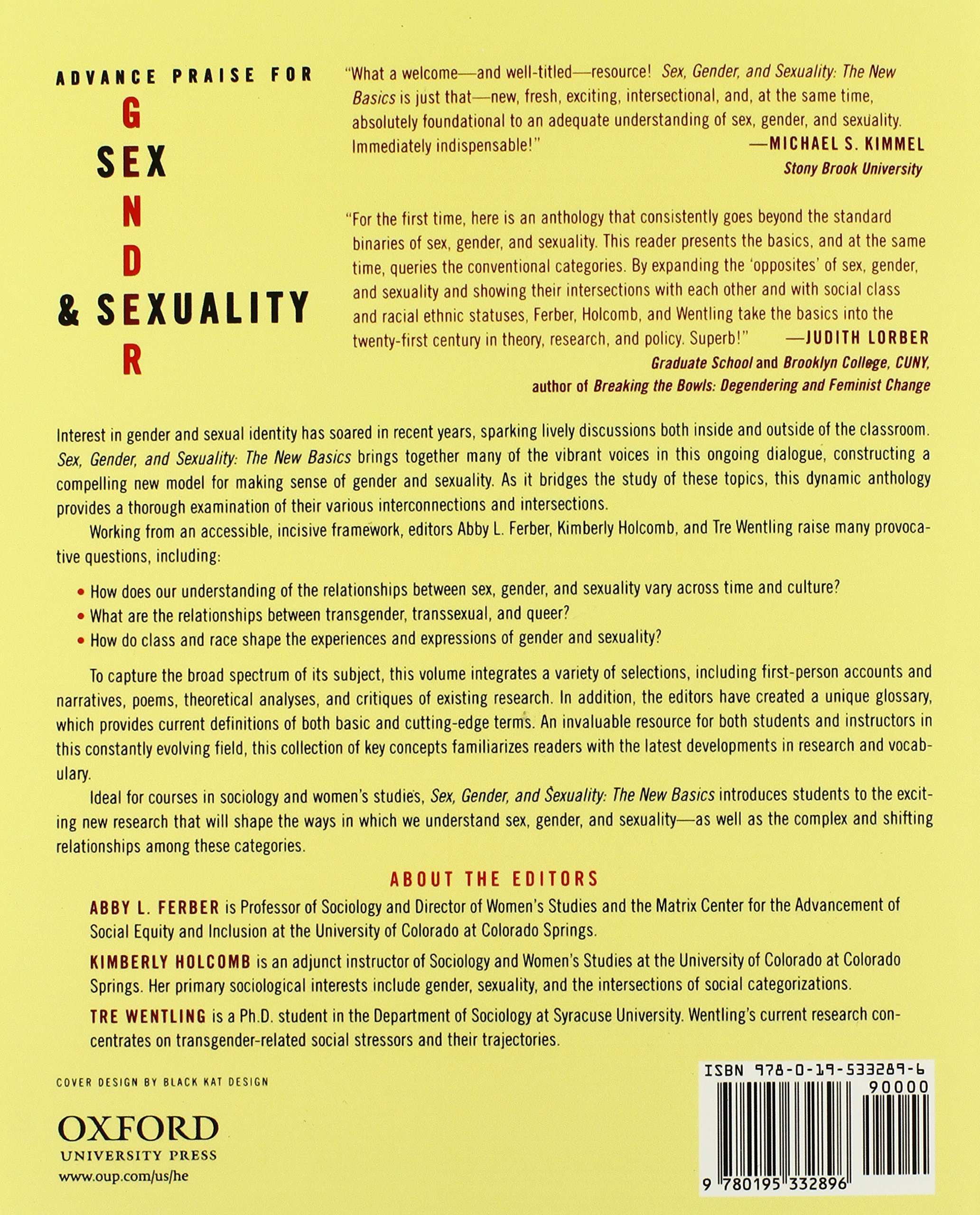 Sex gender and sexuality ferber