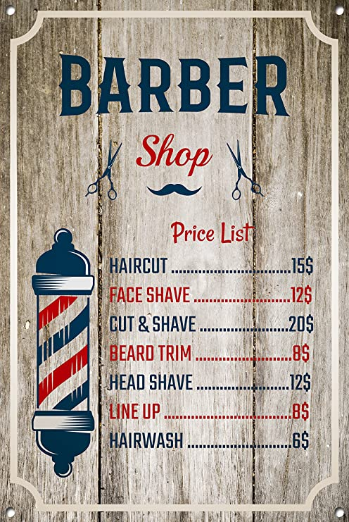 Cartel de Barber Shop, signo de metal, letrero de Barber ...
