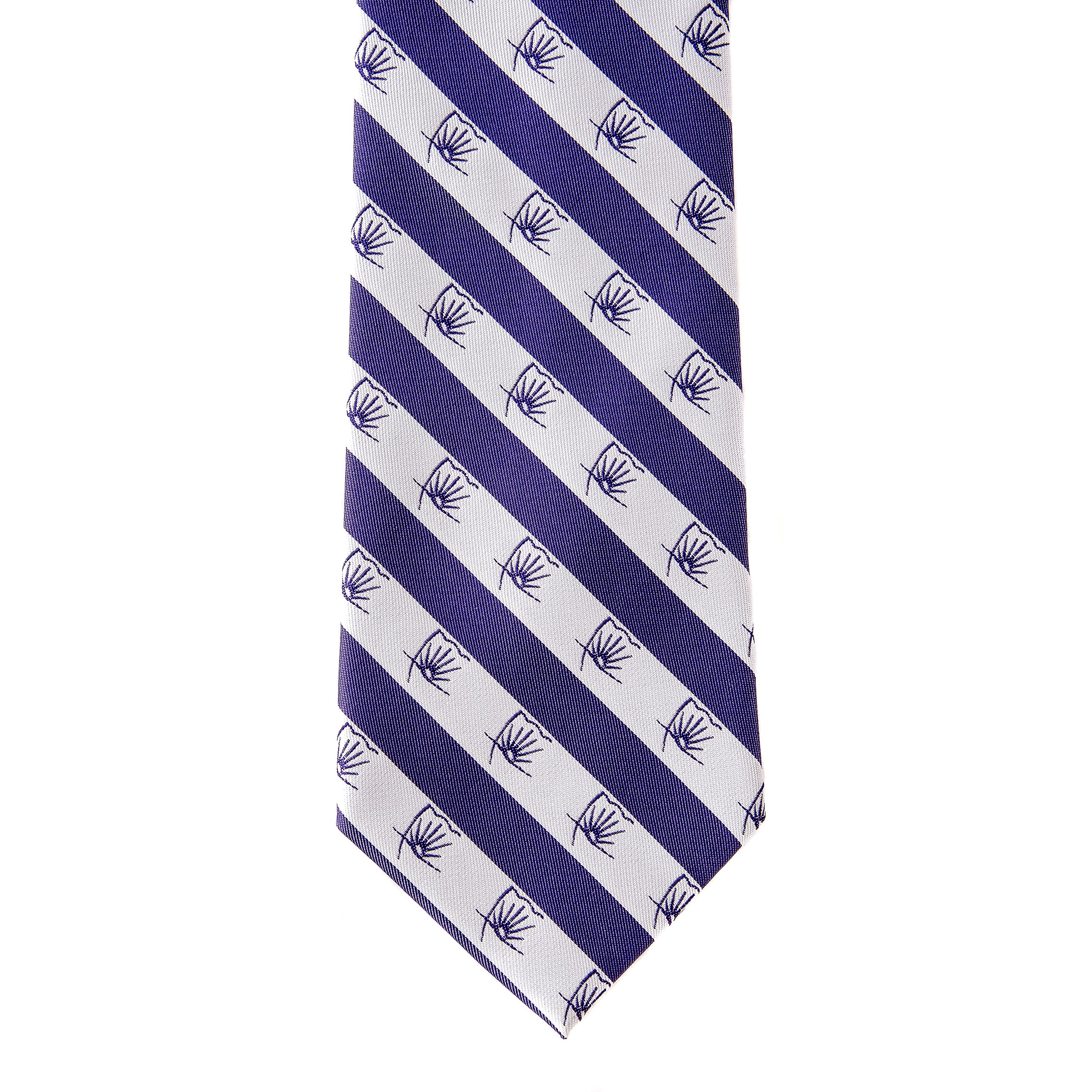 Sigma Alpha Epsilon Fraternity Necktie Tie Greek Formal Occasion Standard Length Width Hanky Pocket Square SAE (Flag Necktie) by Desert Cactus