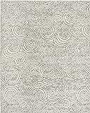 Rivet Modern Gust Swirled Rug, 7'6 x 9'6, Grey