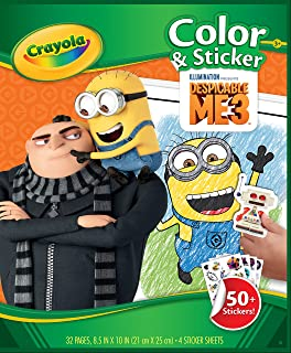 04-5870 New Despicable Me Minions Crayola Googly Eye Show Colouring Book Pad