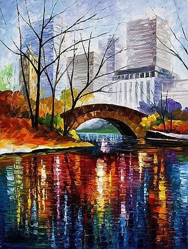 Central Park Print New York Wall Decor Artwork On Canvas By Leonid Afremov