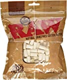 Raw Regular Natural Unrefined Cotton Filter Tips 200pc - 8mm 1 Pack