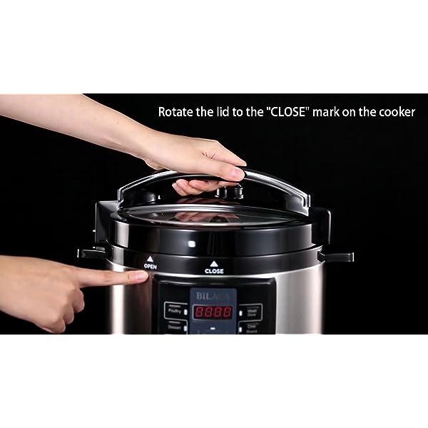 Electric Pressure Cooker,BILACA 6 Qt 9-in-1 Multi Programmable Pressure Cooker,Slow Cooker,Rice Cooker,Steamer,Yogurt… 7