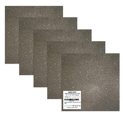 Amazon.com: Láminas adhesivas de vinilo con purpurina gris ...
