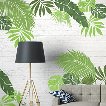 Etonnant Dizzy Duck Designs JUNGLE LEAF SET OF 6 Furniture Wall Floor Stencils For  Painting   Wall