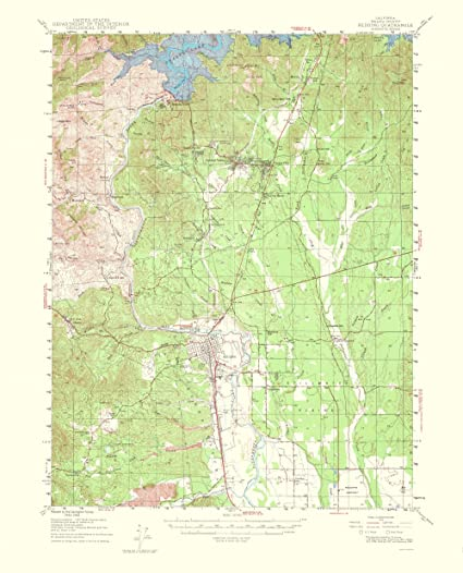 Amazon.com: Topographical Map Print - Redding California Quad - USGS ...