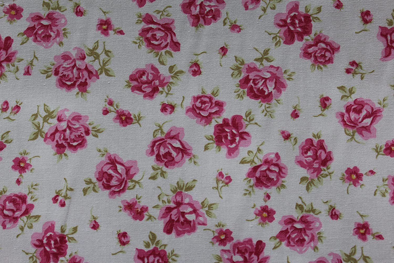 Rosa & HuBBLE 1 x Metre 100% algodón POPLIN tela MATERIAL costura rosa flores 129: Amazon.es: Hogar