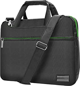 Slim Green Trim Laptop Messenger Bag 13.3 inch for Apple MacBook, Air, Pro 13 inch