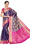 Mimosa Women's Silk Saree (201-Nvy-Rni_Navy)
