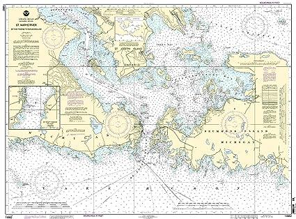 Amazon.com: NOAA print-on-demand Gráfico St. Marys Río ...