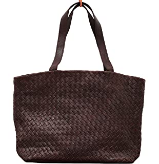 LE TRESSAGE Oil Brown PAUL MARIUS geflochtenem Leder Handtasche PAUL MARIUS