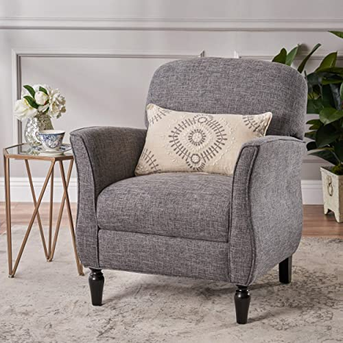 Christopher Knight Home Crew Traditional Tweed Armchair, Gray, Emerald