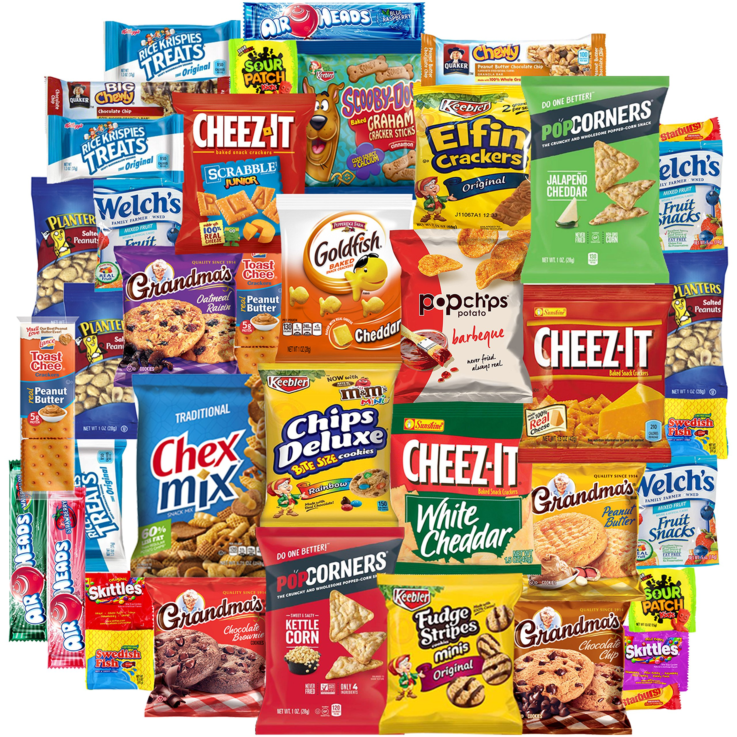 Snack Chest Mix Set of Snacks, Chips, Cookies, Candies and Crackers Care Package, Good Mix of Treats for Everybody (40 Count)