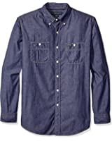 U.S. Polo Assn. Men's Classic Fit Poplin with Neps Button Down Sport Shirt