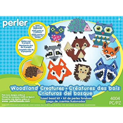 Perler Beads Woodland Creatures Animal Pattern Crafts for Kids, 4004 pcs: Arts, Crafts & Sewing
