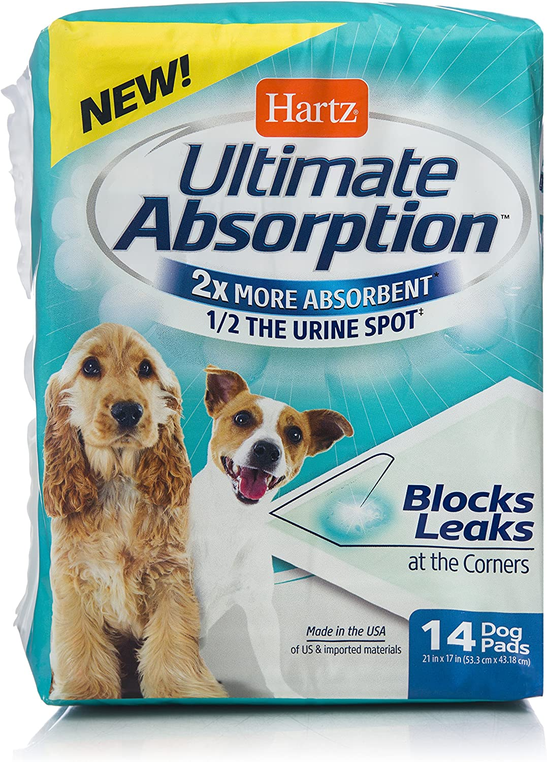 Hartz Ultimate Absorption Gel Dog Pads - 14 Count