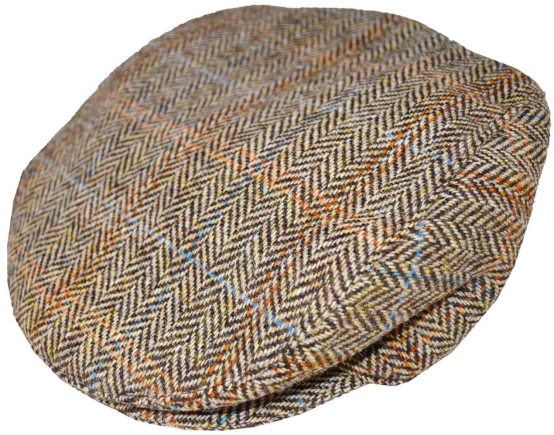 Dents Men`s Harris Tweed Flat Cap 1-3029 Olive (Medium)  Amazon.co.uk   Clothing 531c6ea37cc7