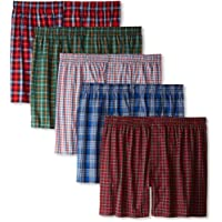 Hanes Men's Five-Pack Ultimate Tartan Boxers