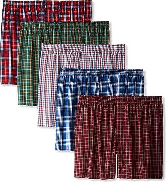 Hanes Men's 5 Pack Ultimate Tartan Boxers - Colors May