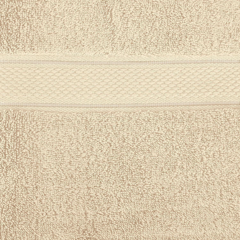 Pinzon by Amazon - Juego de toallas de algodón egipcio (2 toallas de baño), color crema: Amazon.es: Hogar