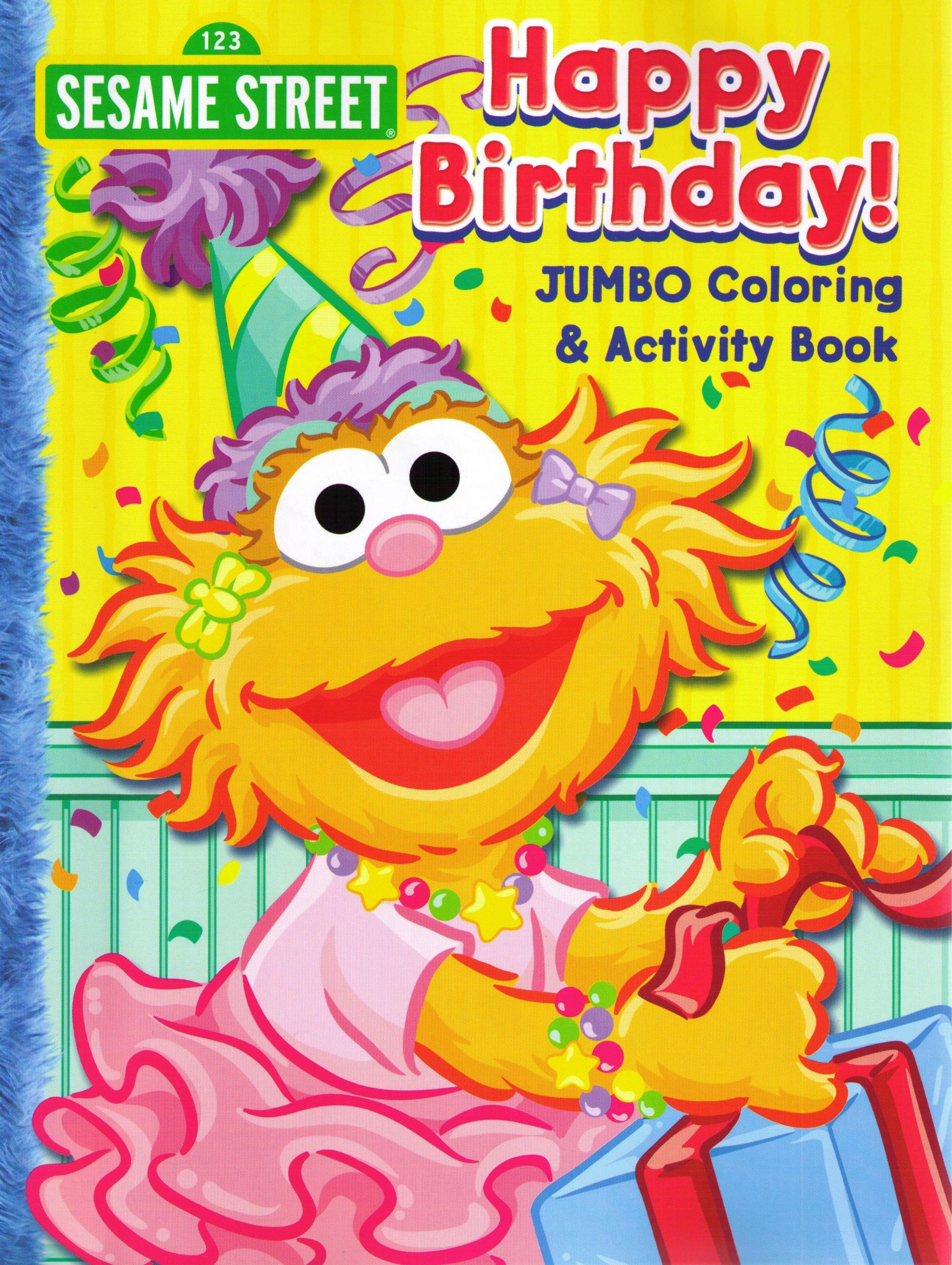 Sesame Street Jumbo Coloring & Activity Book Happy Birthday ...