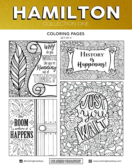 Amazon Com Coloring Broadway Hamilton Card Stock Coloring Pages 8