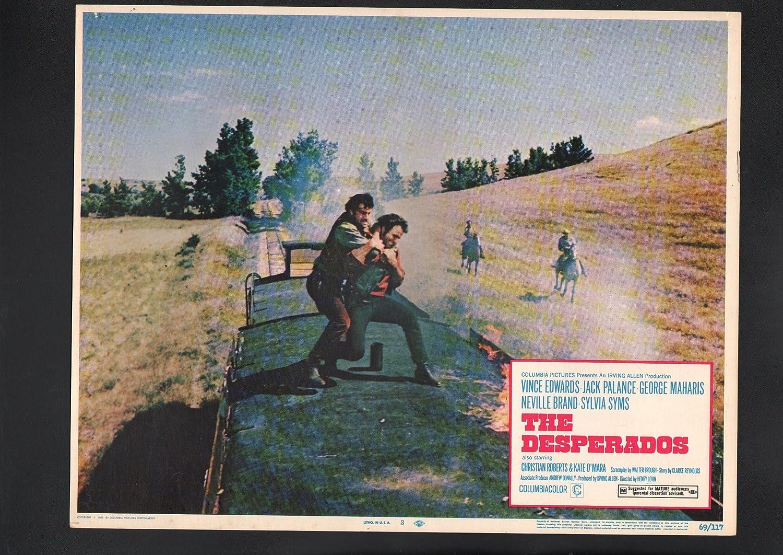 Amazon Com Movie Poster Desperados Lobby Card 3 1969 Vince Edwards Entertainment Collectibles