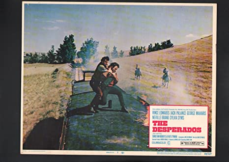 Amazon Com Movie Poster Desperados Lobby Card 3 1969 Vince Edwards Entertainment Collectibles