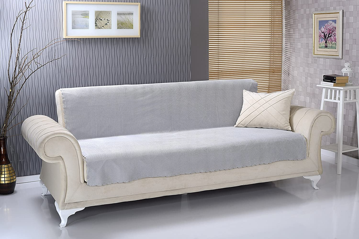 rose antislip armless 1piece sofa shield futon couch pet cover furniture protector diamond silver it is provided with quite a few appealing features