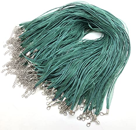 Wholesale Lot ~ 20/'/' Silky Twisted Necklace Cord with  2 Extension Chain ~ 5 Colors ~ 25pcs or 50pcs