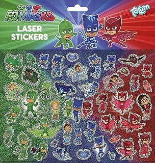 Totum PJ Máscaras 320055 PJ Máscaras Laser Pegatinas, Multicolor