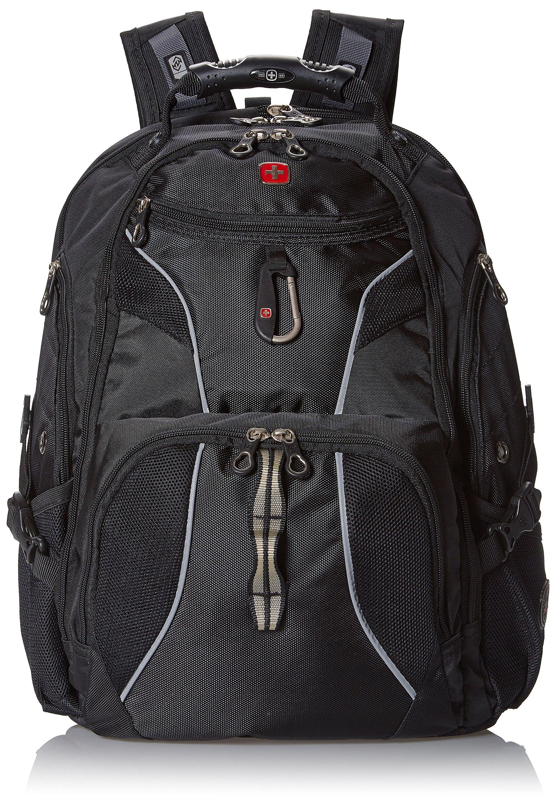 Swiss Gear SA1923 Black TSA Friendly ScanSmart Laptop Backpack - Fits Most 15 Inch Laptops and Tablets by Swiss Gear