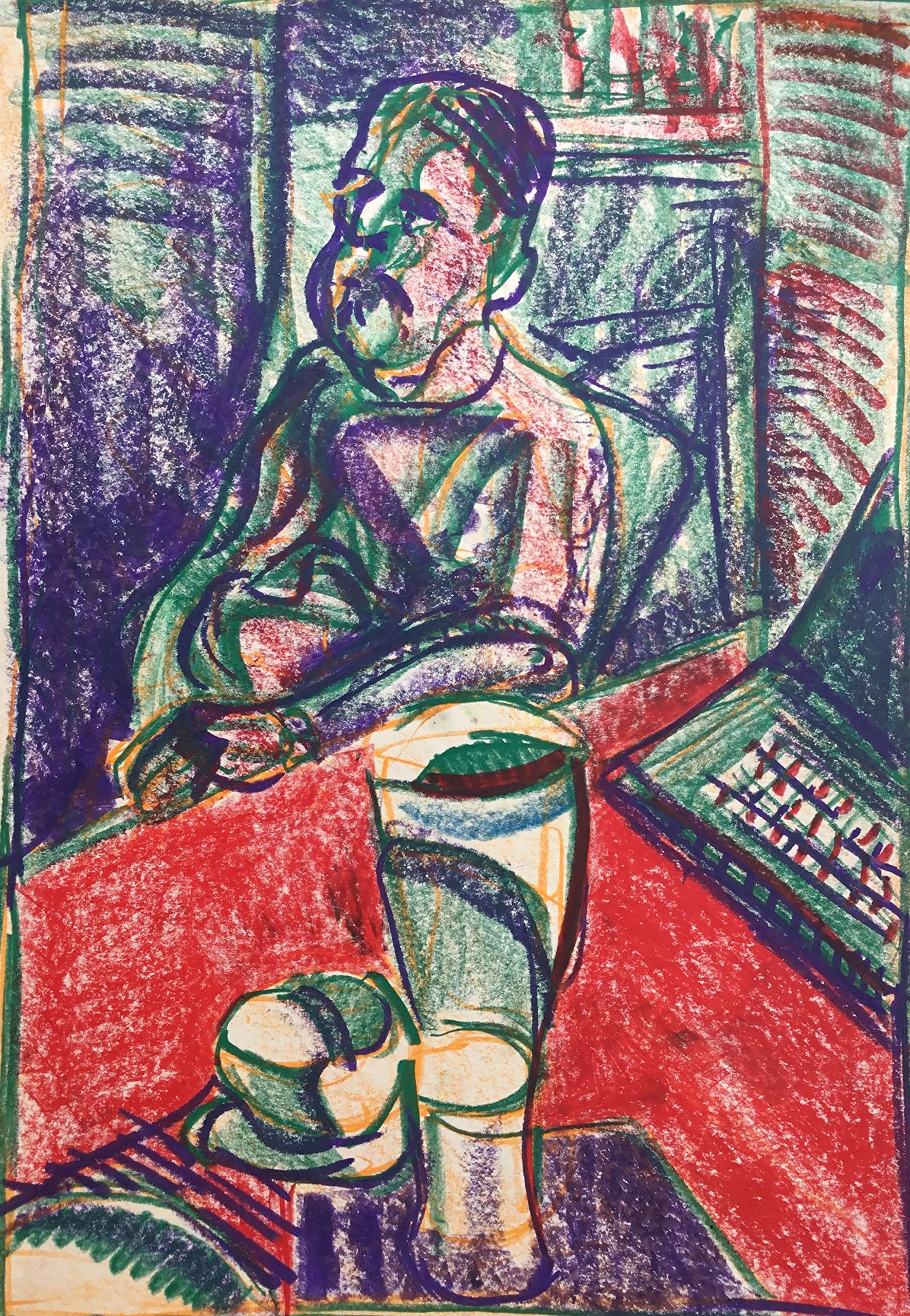 Man at a table by