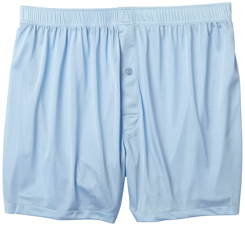 Intimo Men's Tricot Travel Boxer - Big Man Light Blue 2x WM14297-Light Blue-2x