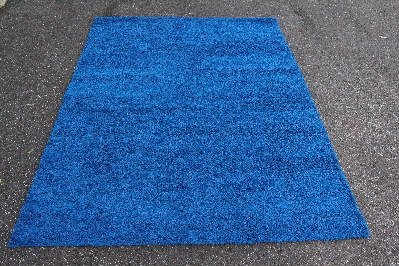 amazoncom blue shag 5x7 modern area rugs kitchen u0026 dining