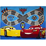 Cars 639175 Tapis de sol Velours/Latex antidérapant Rouge/Bleu 133 x 95 x 1,5 cm
