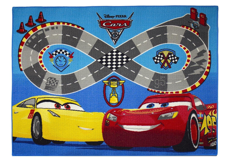 Cars Tappeto di Pavimento, Velluto, Rosso/Blu, 133 x 95 x 1,5 cm 133x 95x 1 5cm Associated Weavers 639175