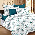 Ahmedabad Cotton Comfort 160 TC Cotton Bedsheet with 2 Pillow Covers - King Size, Blue