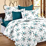Ahmedabad Cotton Comfort 160 TC Cotton Single Bedsheet with Pillow Cover - Blue