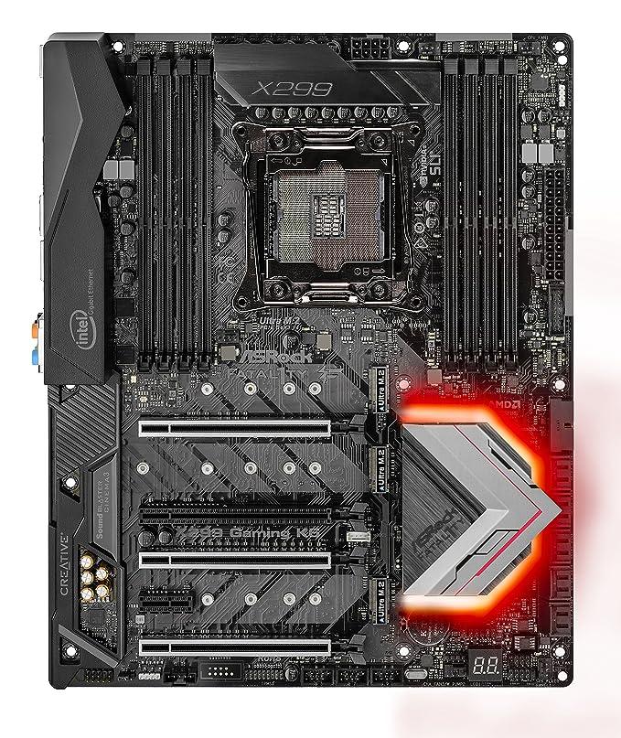 ASRock X299 Gaming K6 Fatal1ty LGA 2066 Intel X299 SATA 6Gb/s USB 3 1 USB  3 0 ATX Intel Motherboard