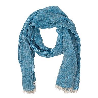 9f6d52beca3 Blue Scarf | 100% Linen Scarf | Scarves For Women | Mens Scarf ...