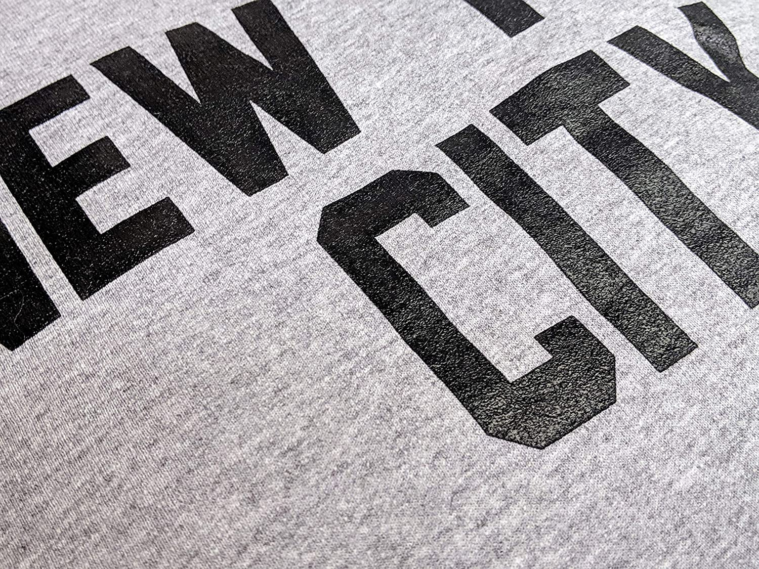 New York City Sweatshirt Screenprinted Gray Adult NYC Lennon Shirt
