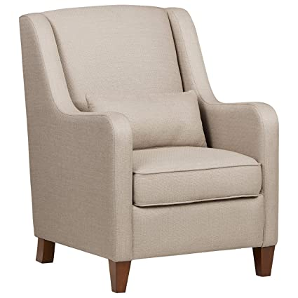 Swell Ravenna Home Radford Modern Curved Arm Accent Chair 28 15W Beige Ibusinesslaw Wood Chair Design Ideas Ibusinesslaworg