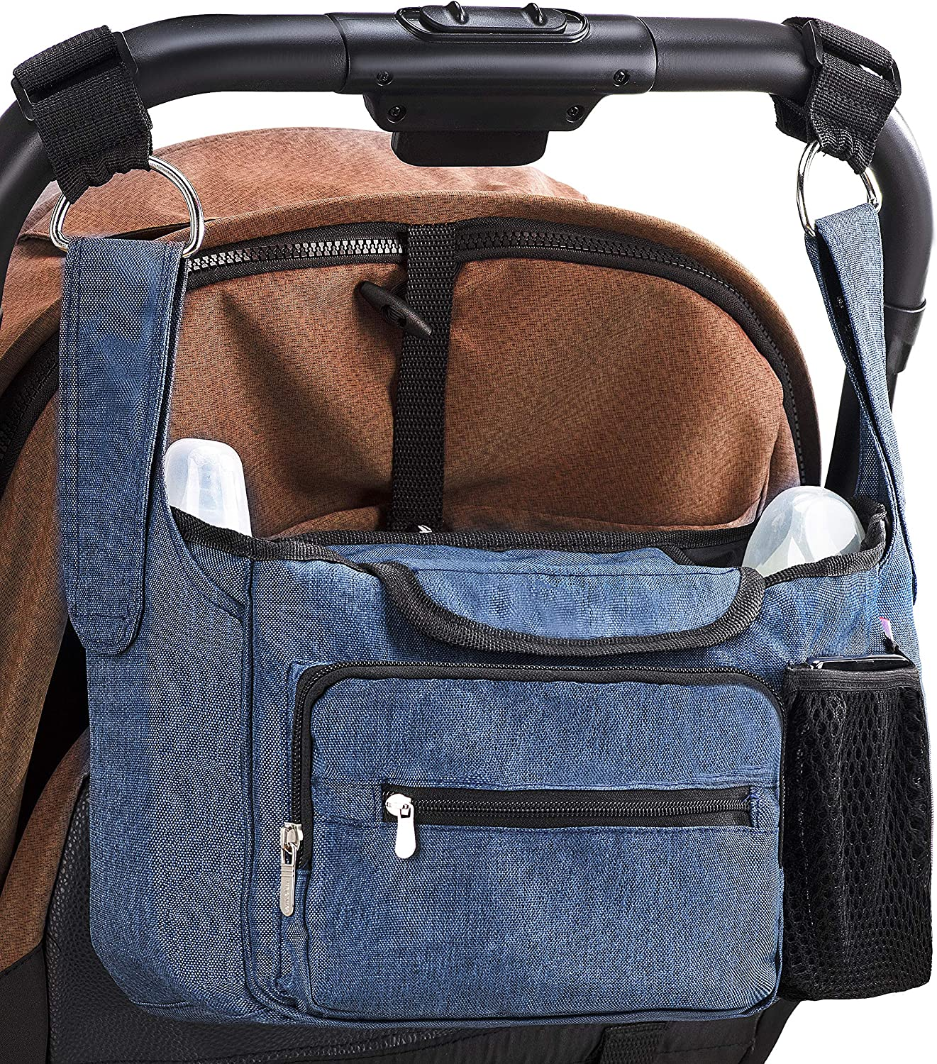 Convenient Stroller for All Types of Strollers BLUE Lenta mall Baby Stroller Organizer Universal Stroller Organizer for Smart Moms with Cup Holders