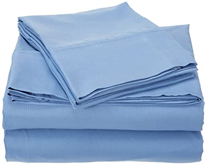DESIGN N WEAVES Microfiber Bed Sheet Set, Deep Pocket Blue Queen Sheets    Brushed Microfiber