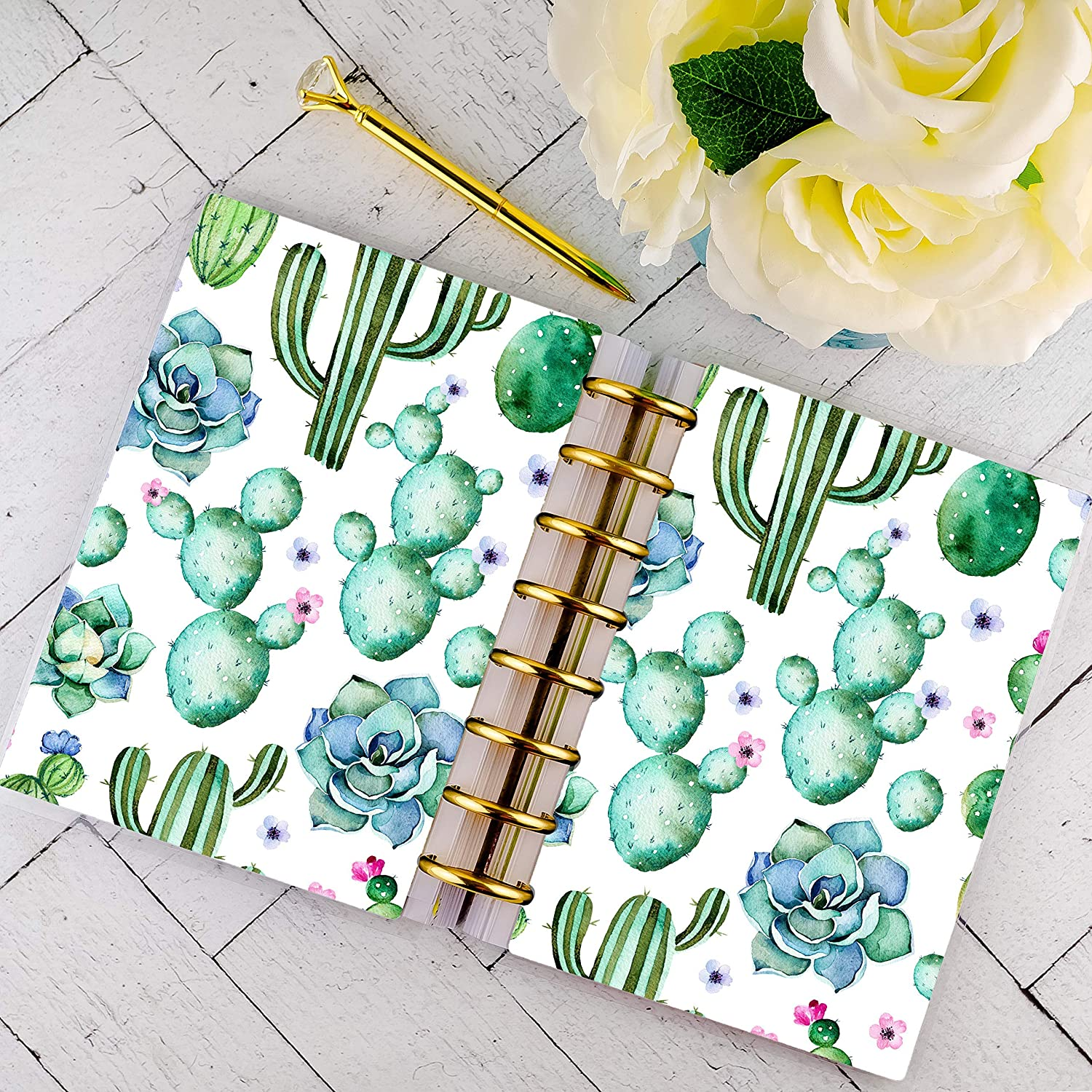 Disc-bound Planner Cover | Succulents