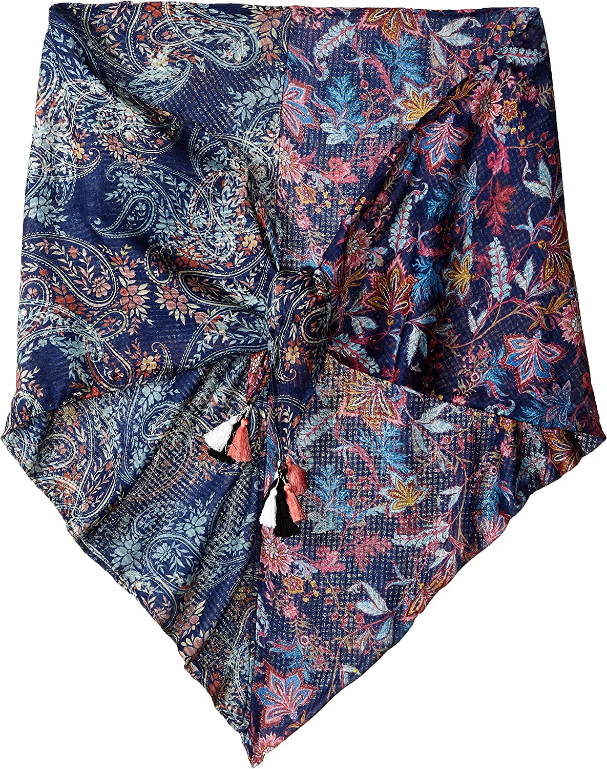 LAUNDRY BY SHELLI SEGAL Women's Paisley Floral Triangular Wrap, midnight multi, One Size
